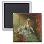 Retrato de la reina de Marie Antonieta de Francia Imán Cuadrado
