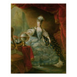 Retrato de la reina de Marie Antonieta de Francia Póster