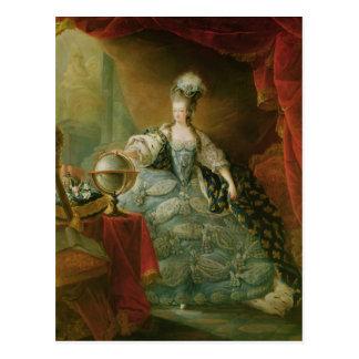 Retrato de la reina de Marie Antonieta de Francia Postal