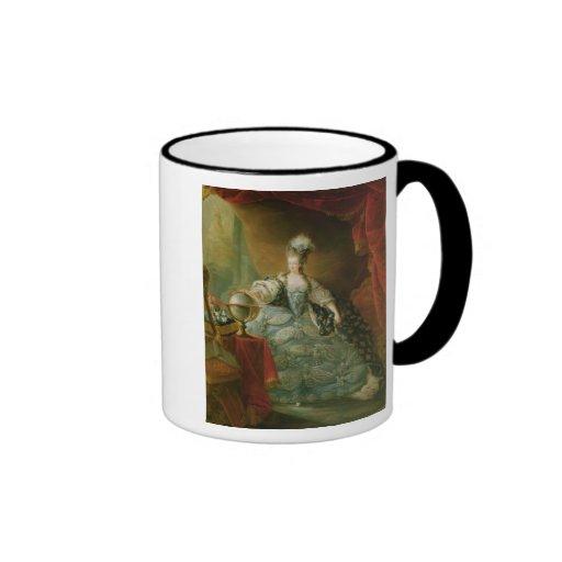 Retrato de la reina de Marie Antonieta de Francia Taza De Dos Colores