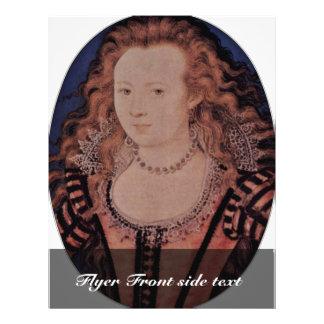 Retrato de la reina Elizabeth del óvalo de Bohemia Tarjeton