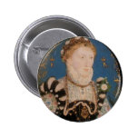 Retrato de la reina Elizabeth I, 1572 Pin Redondo 5 Cm
