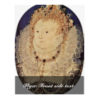 """Retrato de la reina Elizabeth I del óvalo de Ingla Folleto 8.5"""" X 11"""""""