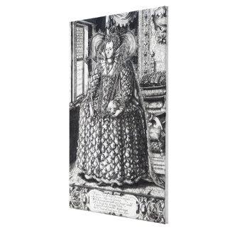 Retrato de la reina Elizabeth I Impresion En Lona