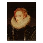 Retrato de la reina Elizabeth I Postal