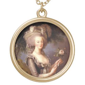 Retrato de la reina Marie Antonieta Collar Dorado