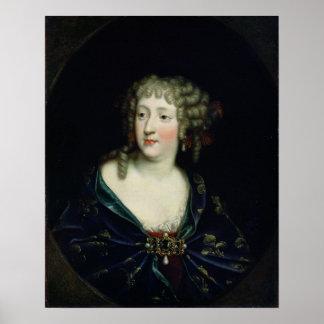 Retrato de la reina Marie-Teresa de Francia Póster