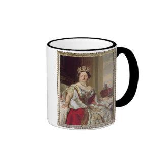 Retrato de la reina Victoria (1819-1901) 1859 Taza A Dos Colores