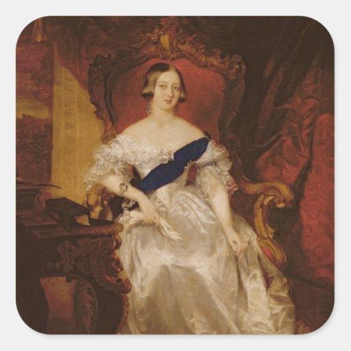 Retrato de la reina Victoria Pegatina Cuadrada