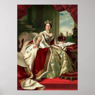 Retrato de la reina Victoria Póster