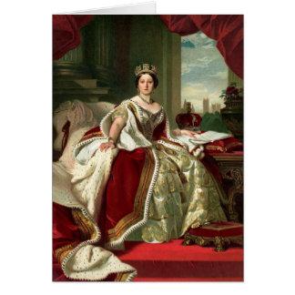 Retrato de la reina Victoria Tarjeta De Felicitación
