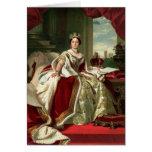 Retrato de la reina Victoria Tarjeton