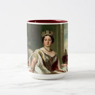 Retrato de la reina Victoria Taza De Dos Tonos