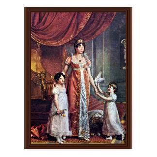 Retrato de la reina y de sus hijas Julia Bona Tarjetas Postales
