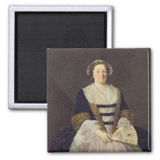Retrato de la señora desconocida imanes de nevera