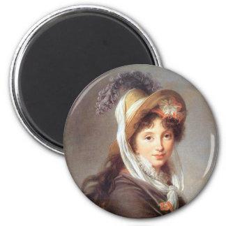Retrato de la señora revolucionaria francesa imán para frigorífico