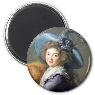 Retrato de la señora revolucionaria francesa iman de frigorífico