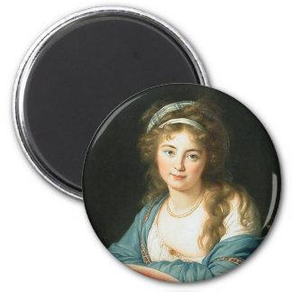 Retrato de la señora revolucionaria francesa imán de frigorífico