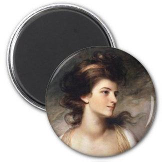 Retrato de la señora revolucionaria francesa imán para frigorifico