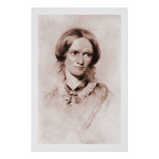 Retrato de la sepia de Charlotte Brontë de George  Impresiones