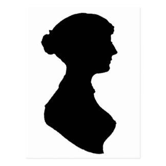 Retrato de la silueta de la mujer de la regencia tarjetas postales
