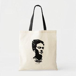 Retrato de la sombra de Frida Bolsa Tela Barata