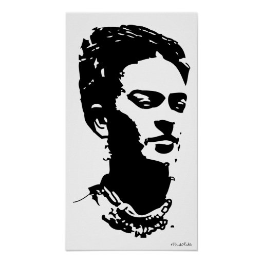 Retrato de la sombra de Frida Posters