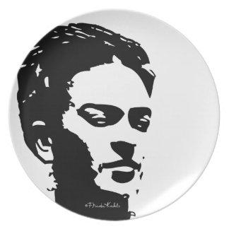 Retrato de la sombra de Frida Plato Para Fiesta