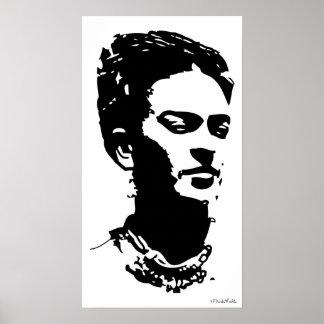 Retrato de la sombra de Frida Póster