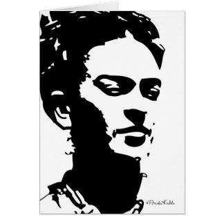 Retrato de la sombra de Frida Tarjeta De Felicitación