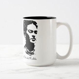 Retrato de la sombra de Frida Taza De Café De Dos Colores