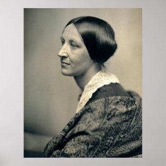 Retrato de la sufragista Susan Brownell Anthony Póster