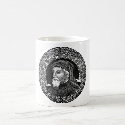 Retrato de la taza de Geoffrey Chaucer