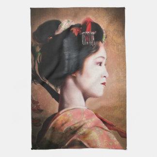 Retrato de la toalla de cocina japonesa oriental d