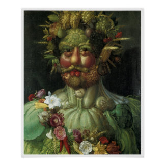 Retrato de la vegetación Giuseppe Arcimboldo Póster