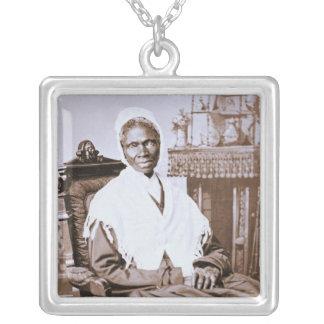 Retrato de la verdad del Sojourner circa 1870 Colgante Cuadrado