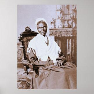 Retrato de la verdad del Sojourner circa 1870 Póster