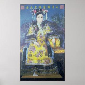 Retrato de la viuda de emperatriz Cixi Impresiones