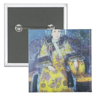 Retrato de la viuda de emperatriz Cixi Pin Cuadrada 5 Cm