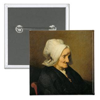 Retrato de la viuda Roumy Pin Cuadrado