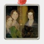 Retrato de las hermanas de Bronte, c.1834 Adorno Navideño Cuadrado De Metal