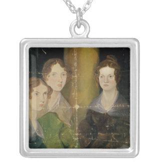 Retrato de las hermanas de Bronte, c.1834 Colgante Cuadrado