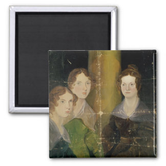 Retrato de las hermanas de Bronte, c.1834 Imán Cuadrado