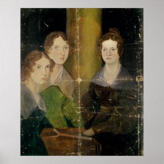 Retrato de las hermanas de Bronte, c.1834 Impresiones