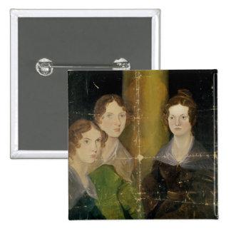 Retrato de las hermanas de Bronte, c.1834 Pin Cuadrado