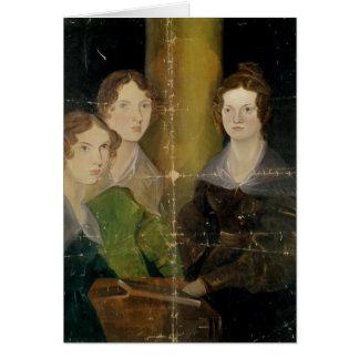 Retrato de las hermanas de Bronte, c.1834 Tarjeta De Felicitación