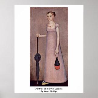 Retrato de las levaduras de Harriet de Ammi Philli Póster