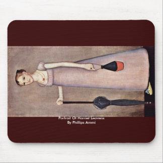 Retrato de las levaduras de Harriet de Phillips Am Alfombrillas De Raton