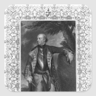Retrato de las maneras de Juan, marqués de Granby Pegatina Cuadrada