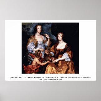 Retrato de las señoras Elizabeth Thimbleby Posters